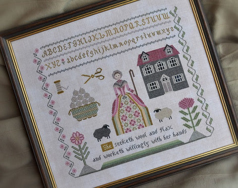 Cottage Garden Samplings ~ Needleworker's Sampler Proverbs 31:13