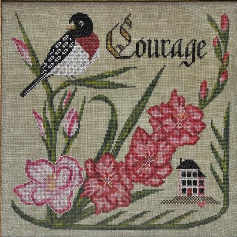 Cottage Garden Samplings ~ Have Courage - Songbird's Garden Series Part 8