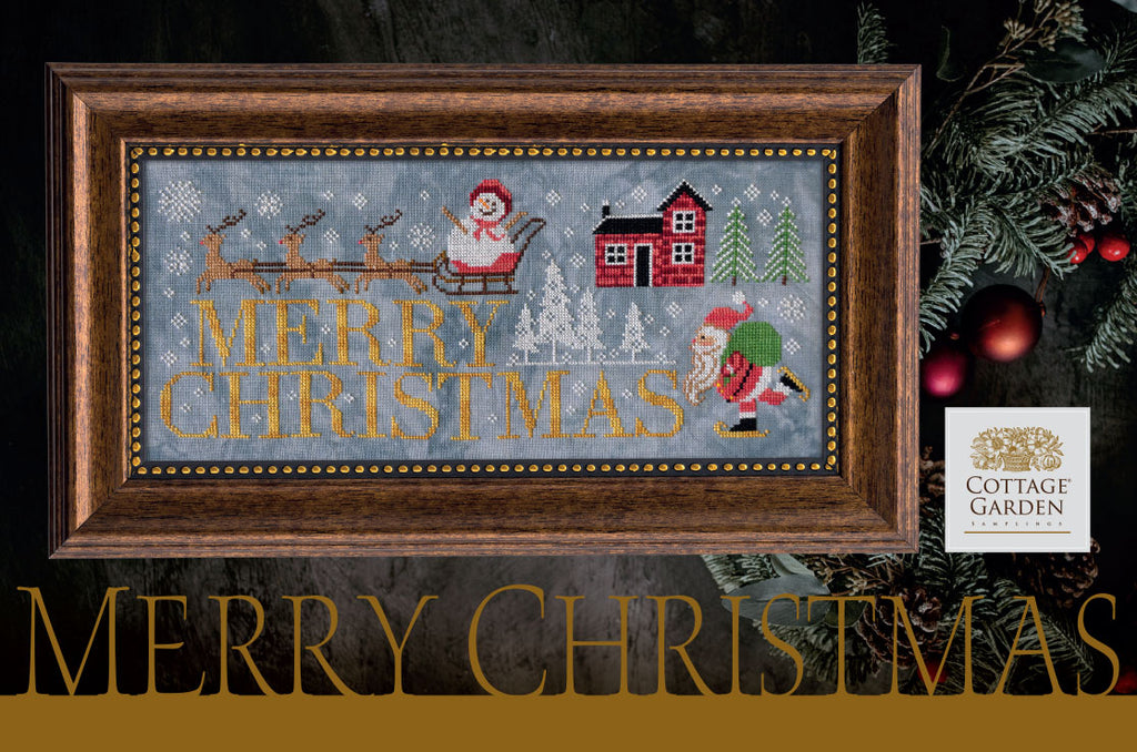 Cottage Garden Samplings ~ Merry Christmas