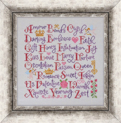 Cottage Garden Samplings ~ Valentine's Sampler