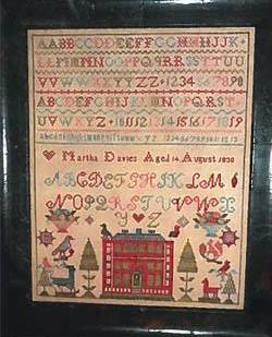 Chessie & Me ~ Martha Davies 1830 Sampler