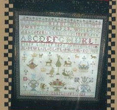 Chessie & Me ~ Mary Lindsay 1828 Sampler