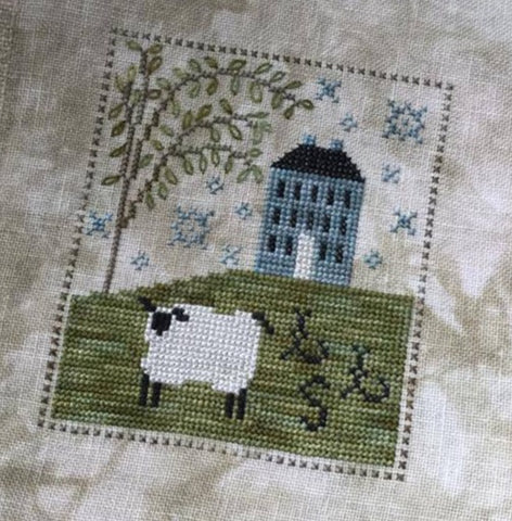 Chessie & Me ~ Sheepish Manor ~ Complete kit with linen and silk thread