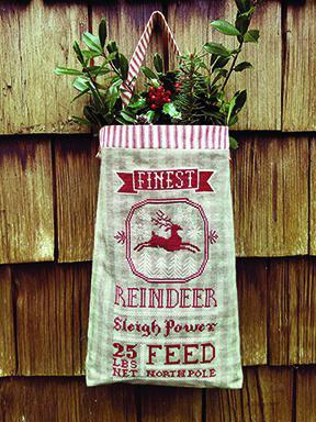 Carriage House Samplings ~ Reindeer Feed Sack