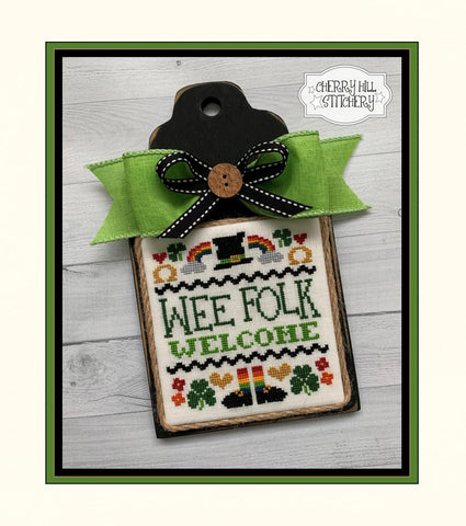 PDF ~ Cherry Hill Stitchery ~ Wee Folk Welcome PDF