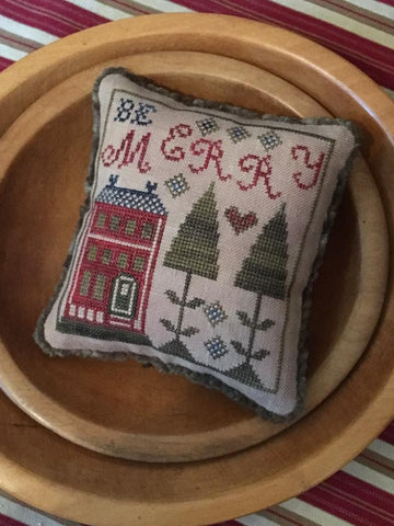 Chessie & Me ~ Be Merry Pyn Pillow