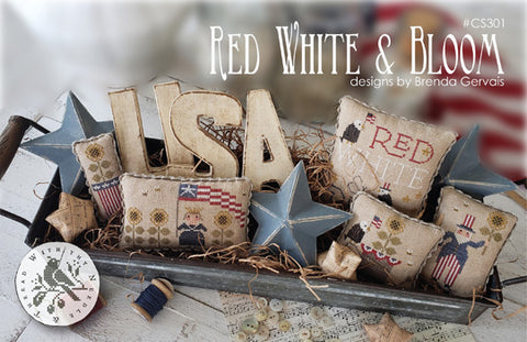 Country Stitches/With Thy Needle & Thread ~ Red, White & Bloom!