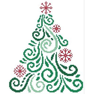 Cross Stitch Wonders ~ Art Deco Tree TEN