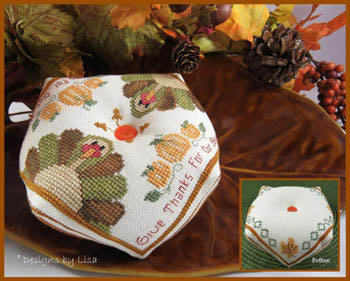 Designs by Lisa ~ Turkey Biscornu