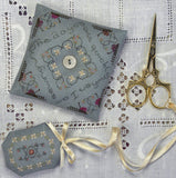 The Drawn Thread ~ When I Am Sewing Pin Pillow & Fob