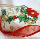 Faby Riley Designs ~ Christmas Wreath Biscornu