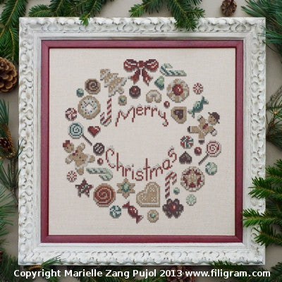 Filigram ~ Cookies Christmas Wreath