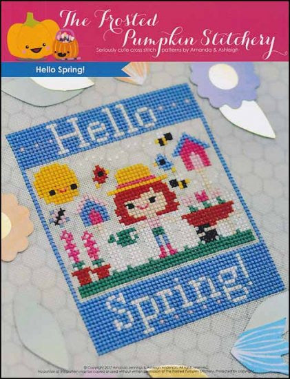 Frosted Pumpkin Stitchery ~ Hello Spring!