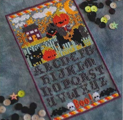 Frosted Pumpkin Stitchery ~ Sleepy Hollow