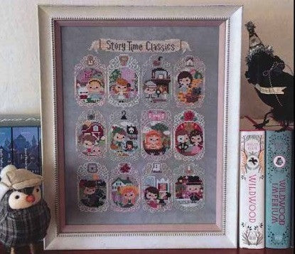 Frosted Pumpkin Stitchery ~ Story Time Sampler