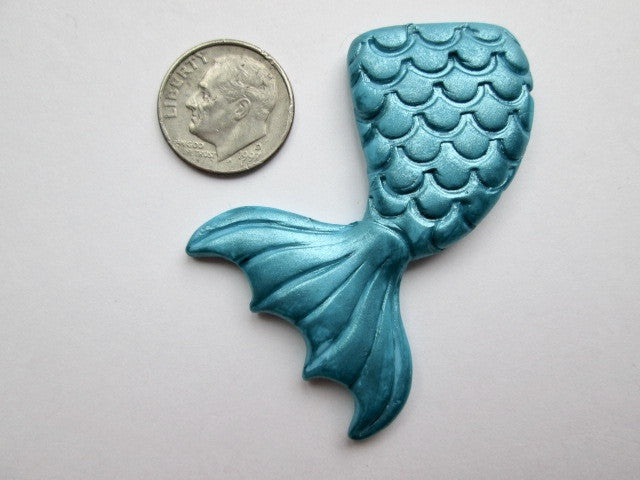 Needle Minder ~  Mermaid Tail - Blue (Clay)