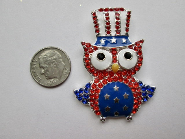 Needle Minder ~ Uncle Sam Owl