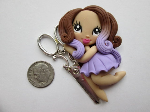 Needle Minder ~ Scissors Girl #8 (ONE OF A KIND!)