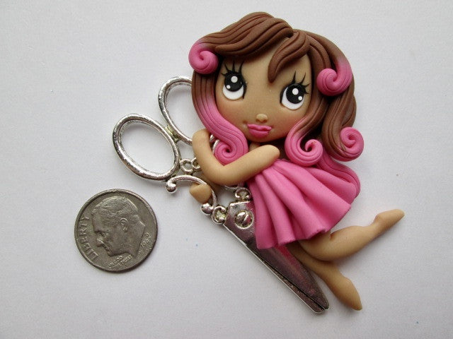 Needle Minder ~ Scissors Girl #6 (ONE OF A KIND!)