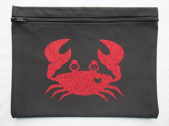 Crazy Crab ~ Glitter Project Bag