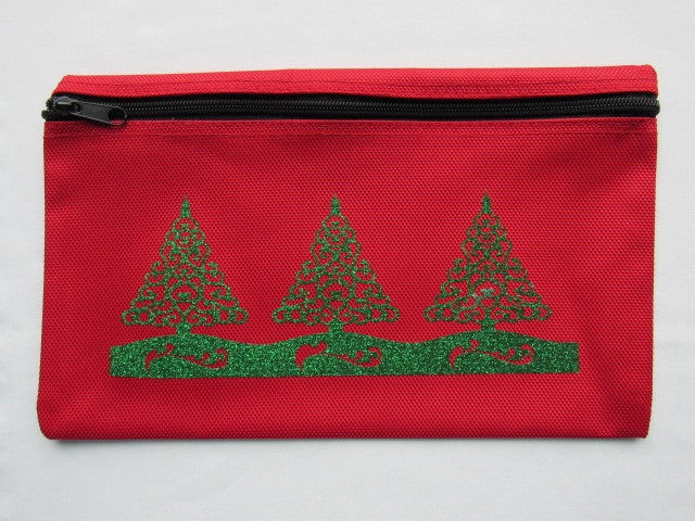 Christmas ~ Red/Green Glitter Gadget Bags (2 designs)