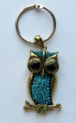 BLING! Floss Ring ~ Rhinestone Owl