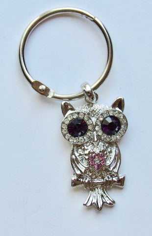 BLING! Floss Ring ~ Owl with Purple