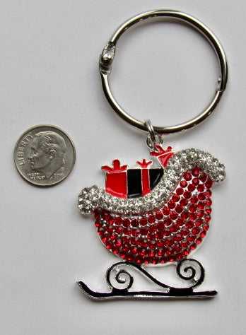 BLING! Floss Ring ~ Santa's Sleigh (matching Needle Minder available!)