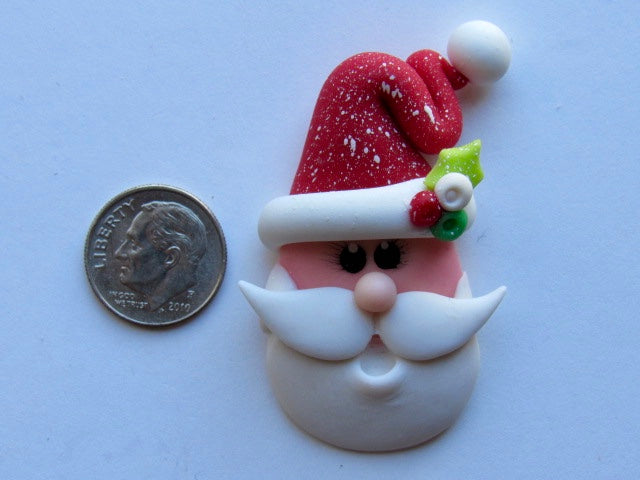 Needle Minder ~ Happy Santa (Clay)