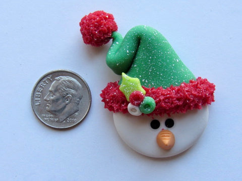 Needle Minder ~ Happy Snowman (Clay)