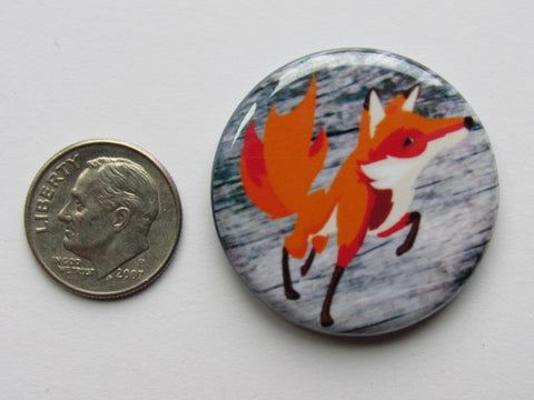 "1.25"" Button Magnet ~ Red Fox"