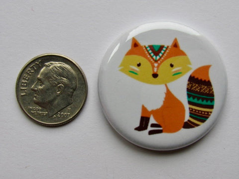 "1.25"" Button Magnet ~ Boho Fox"