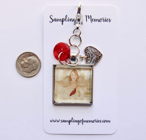 Sampling of Memories ~ Angel w/Cardinal Visitor Scissors Keep (DSL Exclusive!)
