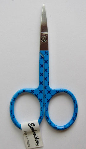 Riley Blake Embroidery Scissors X (Stitches) - Blue