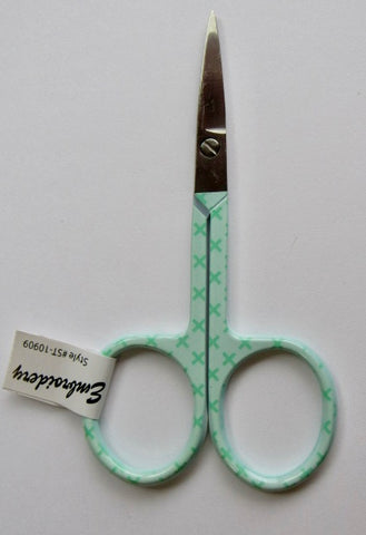 Riley Blake Embroidery Scissors X (Stitches) - Aqua Green