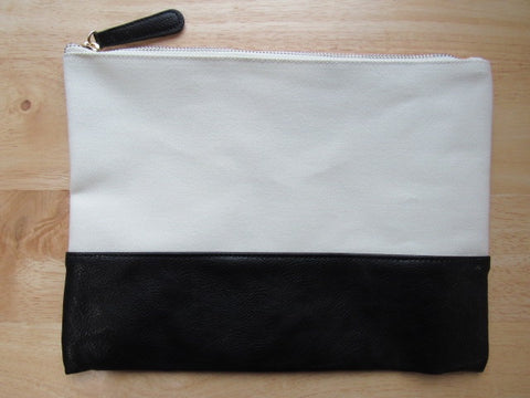 Black & Canvas Project Bag
