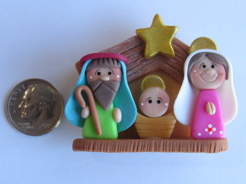Needle Minder ~ The Nativity (CLAY)  AMAZING!