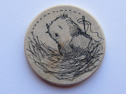 Michelle Palmer Needle Minder ~ Feathered Nest M6 (One of a Kind!)