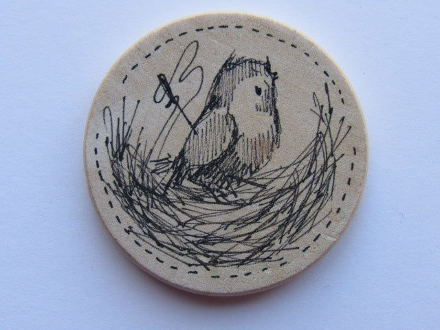 Michelle Palmer Needle Minder ~ Feathered Nest M2 (One of a Kind!)