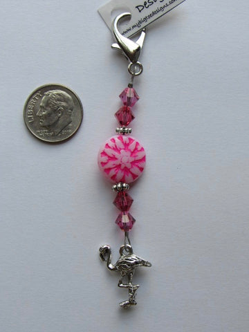 Flirty Flamingo Mini Fob
