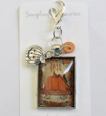 Sampling of Memories ~ Pumpkin Wagon Scissor Keep (VERY Limited #)