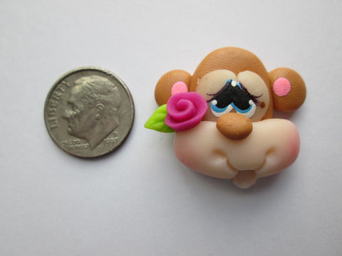 Needle Minder ~ Monkey Love (Clay)