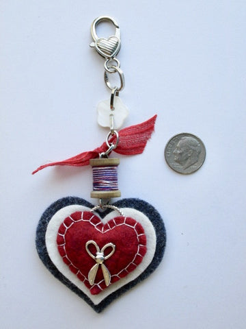 Rovaris ~ Patriotic Heart Fob
