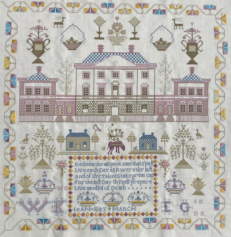 Gentle Pursuit Designs ~ Jean Key Circa 1798 Scottish Sampler