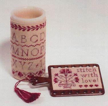GPA - Giula Punti Antichi ~ Rose Carnation Candle & Hornbook Threadkeeper