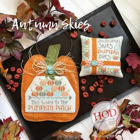 Hands On Design ~ Autumn Skies w/wool embellisment