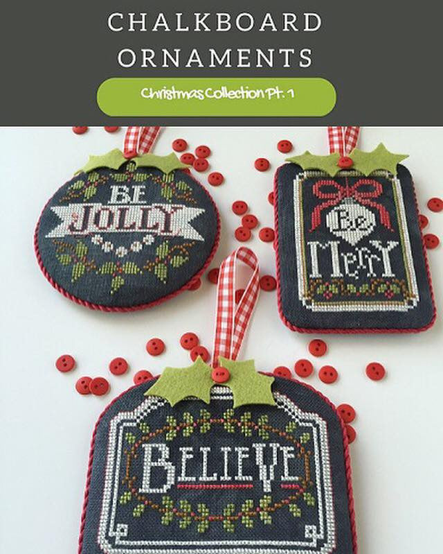 Hands On Design ~ Chalkboard Ornaments Part 1 w/embs.