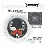 Hands On/JABC ~ Chalk Squared January w/buttons