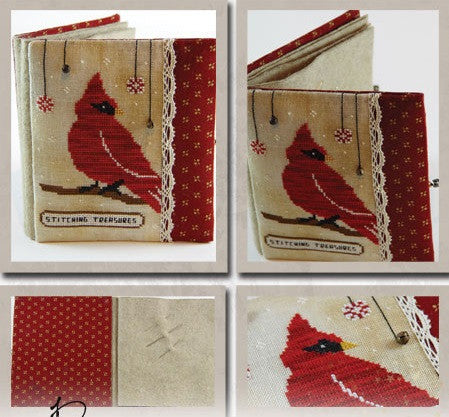 The Primitive Hare ~ Red Cardinal Needlebook