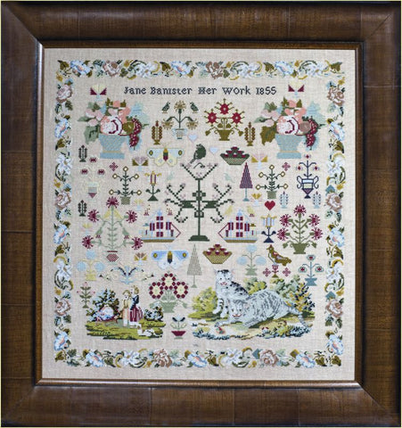 Hands Across The Sea Samplers ~ Jane Banister 1855